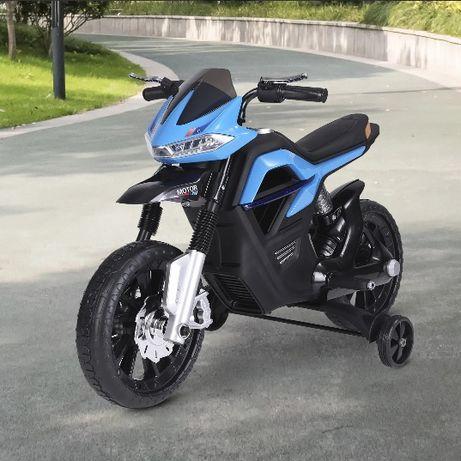 NOWY Motocykl motor elektryczny dla dzieci niebieski