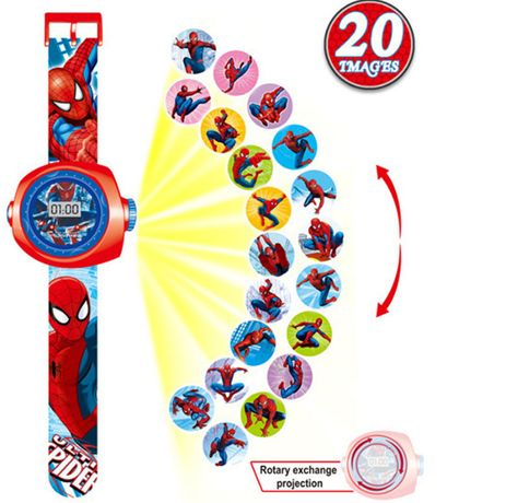 Zegarek cyfrowy LED projektor SUPERMAN BATMAN Spiderman itp