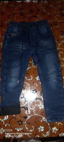 Тёплые джинсы, размер 104