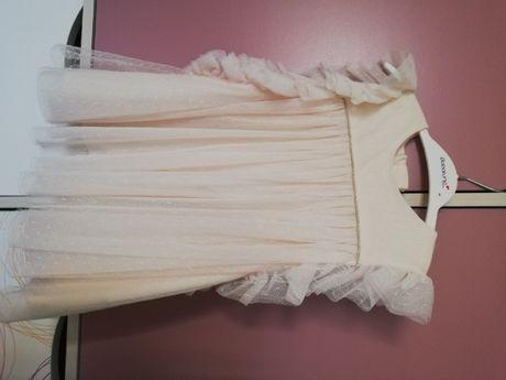 sukienka TAO 80 ecru + sweterek