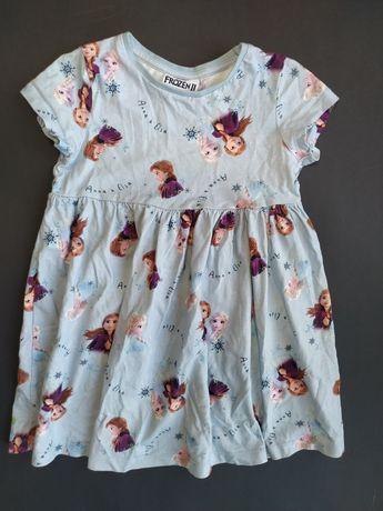 Disney Frozen bajkowa sukienka Anna ELSA 98cm