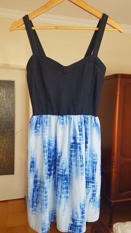 Sukienka granatowo-niebieska