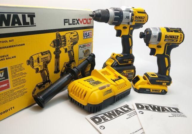 DeWalt FLEXVOLT DCK299D1T1 20v 60v (DCD996 DCF887) шуруповерт і імпакт
