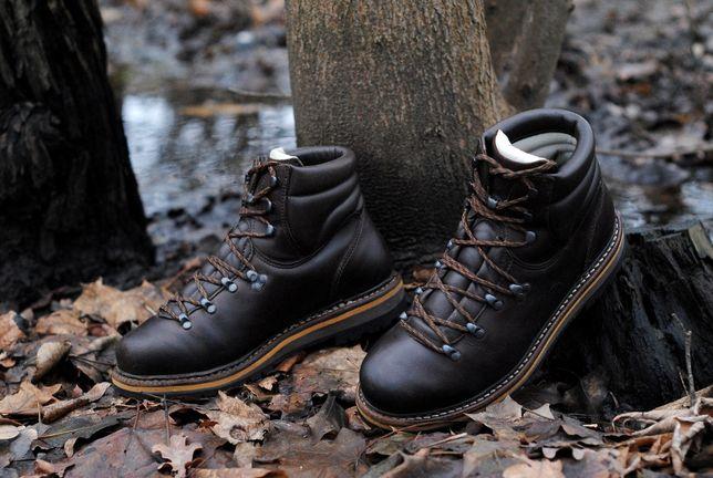 Трекинговые кожаные ботинки HanWag Grünten 41-42 (lowa meindl scarpa)