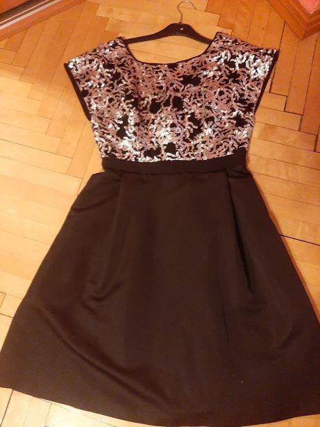 Sukienka czarna , czerwona 36 38 mini ,