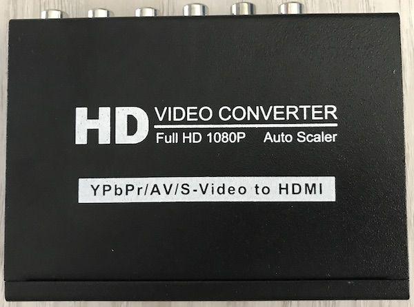 Konwerter AC7606 AV VIDEO CVBS YPbPr S-Video na HDMI 1080p + Audio