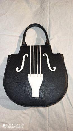 nowa torebka skrzypce violin bag goth gothic lolita alternative unikat