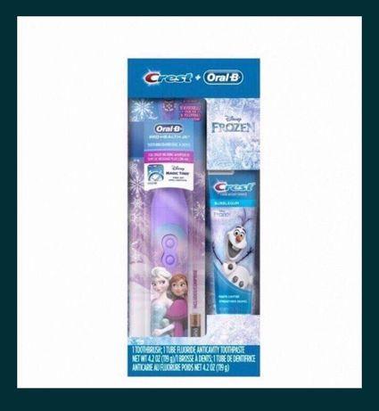 Электрическая зубная щётка ХОЛОДНОЕ СЕРДЦЕ(набор из США).Оригинал.