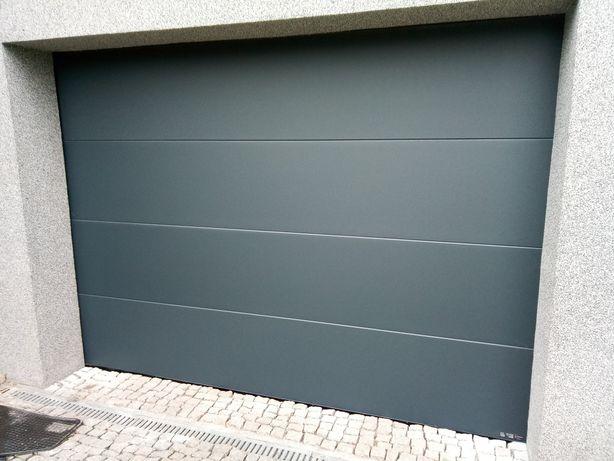 Brama garażowa segmentowa rolowana z napędem