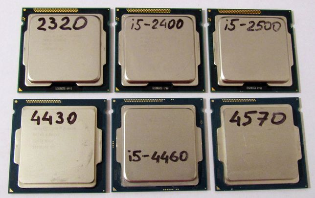 Intel Core i5-2400, 3330 (1155) 4440 4570 (s 1150) i5-6400 6500 (1151)