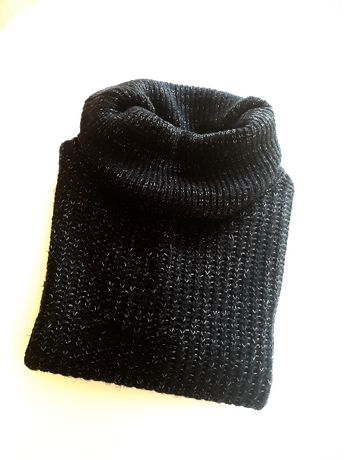 Czarno-szary sweter z golfem, Carry, rozmiar S