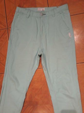 Miętowe spodnie reserved