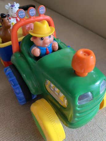 Трактор развивающий музыкальный
