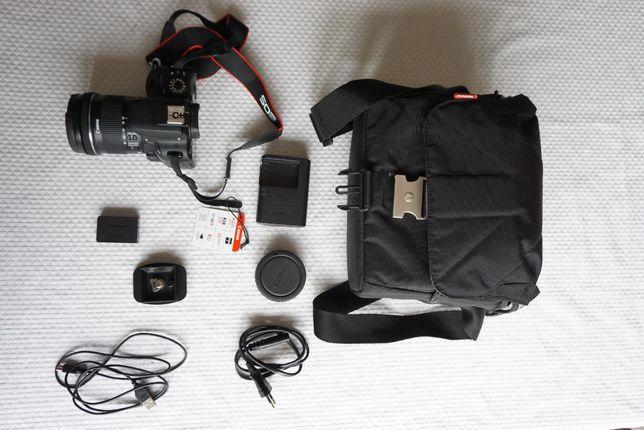 Canon EOS 100D Czarny + 18-55mm (z osprzętem)