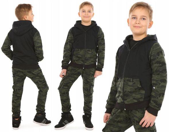 Bluza z kapturem moro dla chłopca 146 , 152 , 158