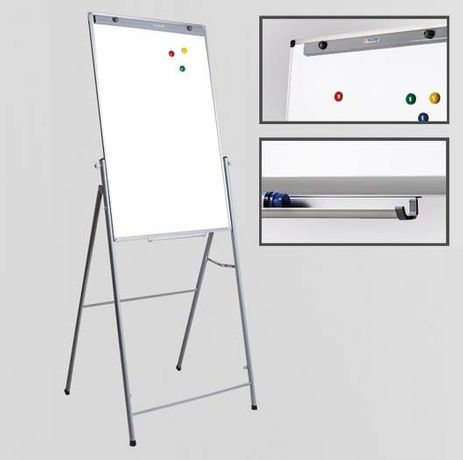 Флипчарт для рисования маркером на подставке 65х100 см