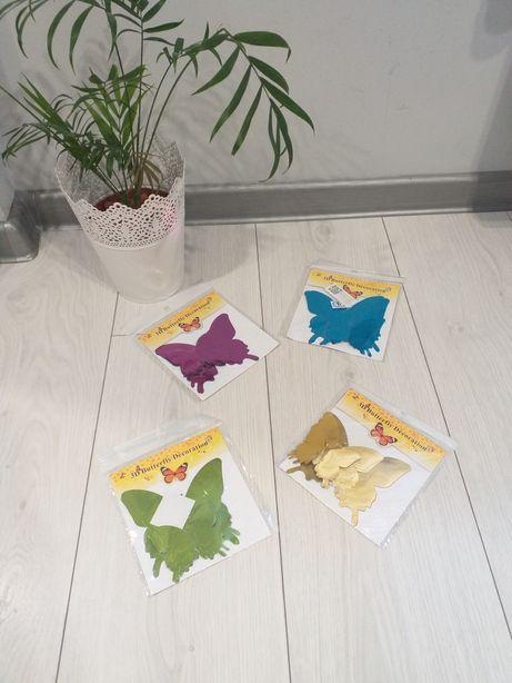 Nowe kolory! NOWE naklejki / LUSTRA 3D Motylki lustrzane!!!