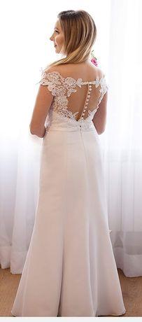 Śliczna sukienka ślubna +gratis szpilki +bolerko.