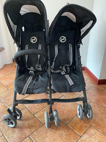 Wózek spacerówka Cybex Twinyx dla bliźniaków typu parasolka