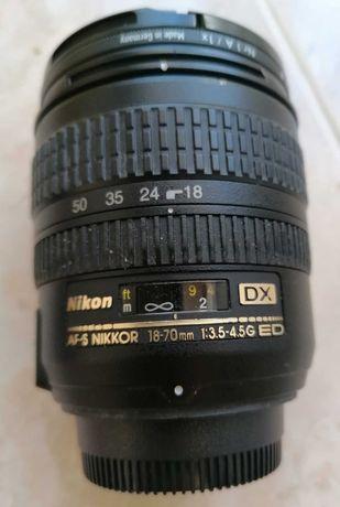 Lente objetiva AF-S Nikkor 18-70mm f3.5-f4.5G DX ED c/Skylight