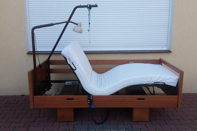 Łóżko rehabilitacyjne elektryczne materac wysięgnik 6 elem. Myślibórz