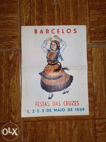 publicidade 1959 das festa das cruzes Barcelos