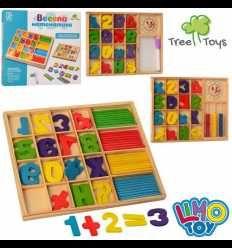 Детская Деревянная игрушка Набор первоклассника Юный математик