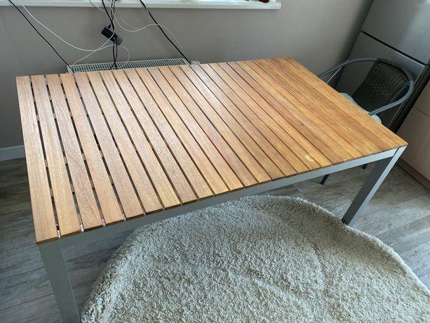 Стол деревянный алюминиевый большой уличный кухонный садовый 150 90 75