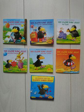 На німецькій мові книги Der Kleine Rabe Socke