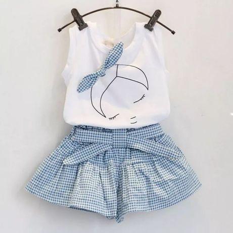 Літній костюм на дівчинку, футболка та шорти для дівчинки, рр.74-122