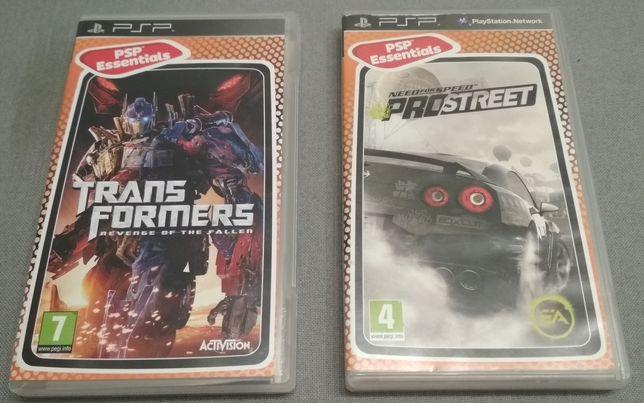 Jogos PSP Transformers e Need for Speed