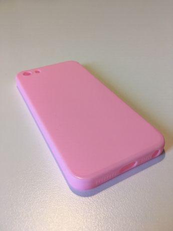 Etui na telefon - iPhone 5 / 5S / 5SE - nowe (jasny różowy)