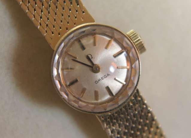 OMEGA złoty zegarek złoto próba 585 14k damski złota bransoletka