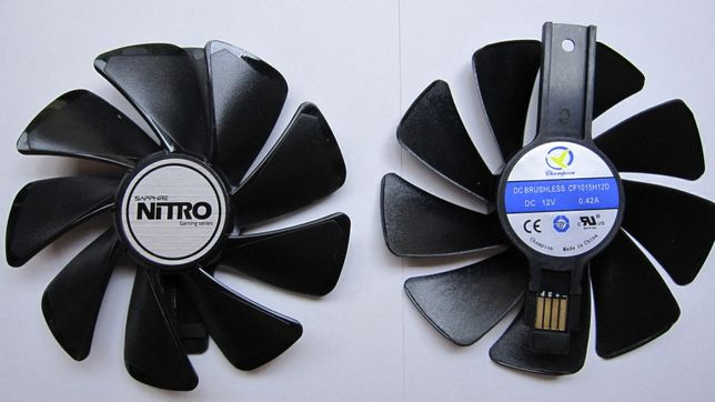 Вентилятор Sapphire Nitro Pulse RX 470 480 570 580 590 CF1015H12D