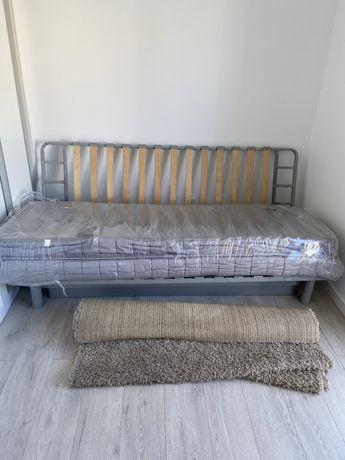 Sofá cama IKEA óptimo c/colchão+capa creme até amanhã