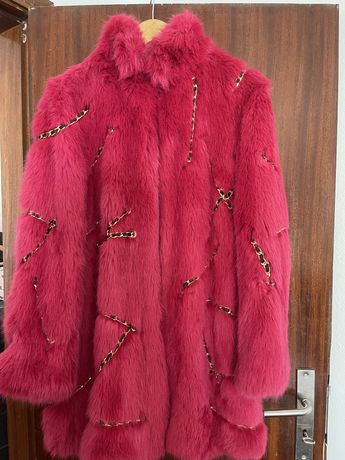 Casaco Moschino pele sintetica Rosa
