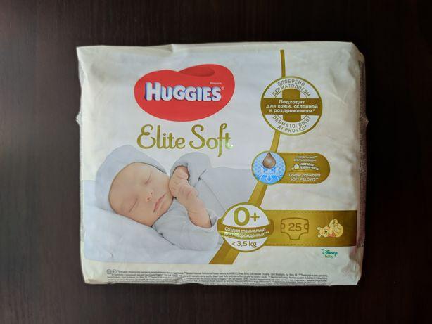Памперсы Huggies Elite Soft 0+