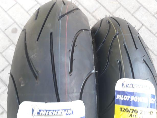 Opony motocyklowe 120/70 zr 17 plus 160 60 zr17 Michelin pilot power