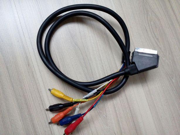 Kabel Euro Scart - 6 RCA chinch (1,2 m)