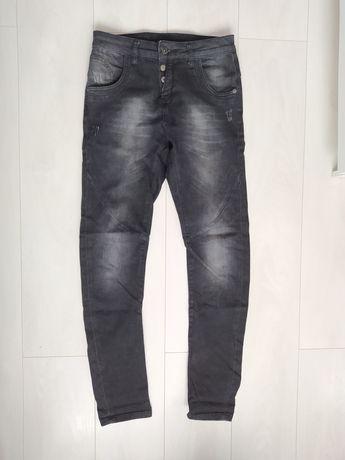 Damskie spodnie czarno-szare - KappAhl (rozmiar 170)