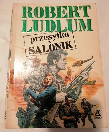 Robert Ludlum książka sensacyjna Przesyłka z Salonik