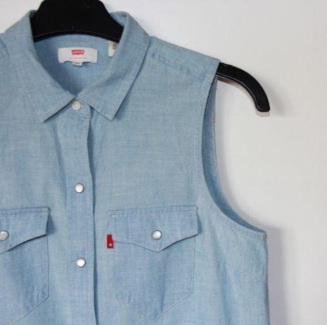 Levis levi's sukienka koszula damska xs 34 s 36 jeansowa