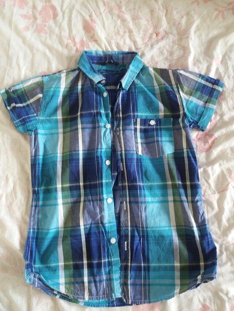 Рубашка в клетку на мальчика 9- 10лет 100грн