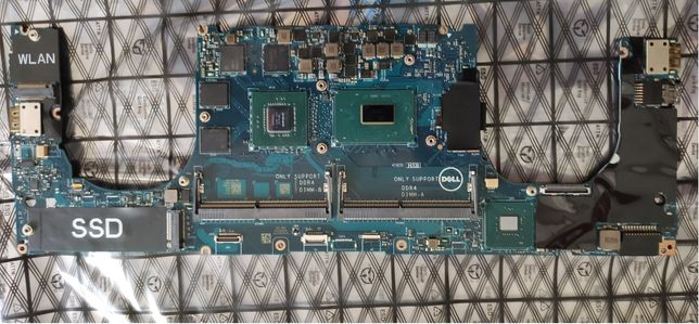 Dell XPS 15 9570 MOTHERBOARD i7-8750H NVIDIA GTX 1050Ti P/N-YYW9X