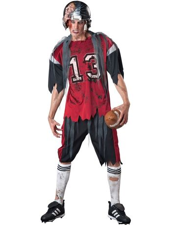 Зомби футболист регбист на подростка или на взрослого, на  12-18 лет
