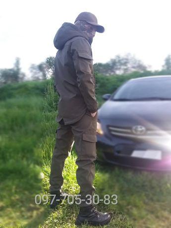 Тактическая куртка штаны костюм SoftShell Софтшел мужской спортивный