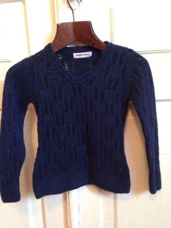 Теплый джемпер свитер на девочку 4-5 лет