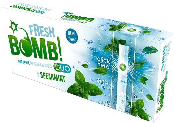 Fresh Bomb Tubes With Spearmint Capsule - 5 caixas