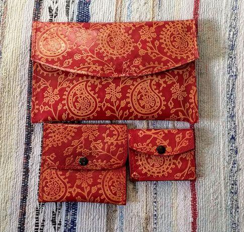 Conjunto de carteiras de senhora