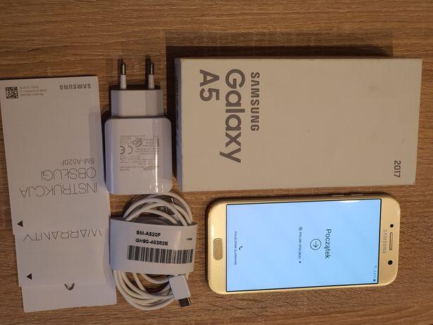 Samsung Galaxy A5 2017, Złoty. Wodoodporny-IP 68.